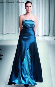 Angebot der Woche: Ausgestelltes Abendkleid royalblau