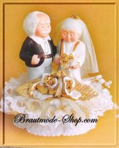 Die goldene Hochzeitstorte