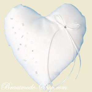 Romantik pur: Das Ringkissen Herzform