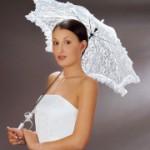 Rüschen  Brautschirm für die romantische Braut