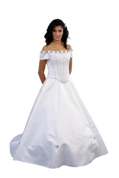 Brautkleid, Rosen, Maßanfertigung, Brautmode 2008