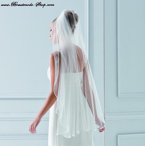 Brautschleier 200cm x 110cm brautmode braut for Brautschleier ivory einlagig