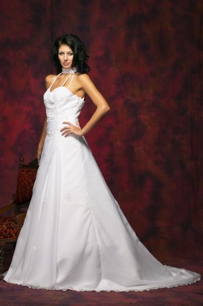 Brautkleid Aus Satin Chiffon Brautmode Shop Com Braut