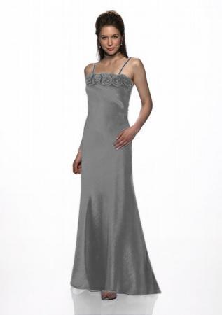 Abendkleid Rosen mit passender Stola, silber | Brautmode-Shop.com ...
