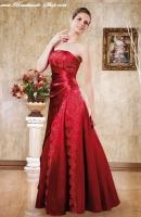 Gewickeltes Kleid rot