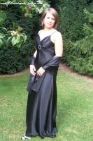Schlichtes Abendkleid in schwarz