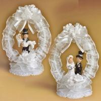 Brautpaaraufsatz mit Tüllkranz