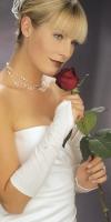 perlenverzierter Brauthandschuh