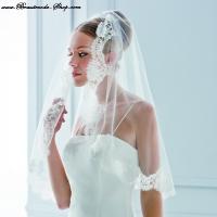 Brautschleier mit franz sicher spitze brautmode for Brautschleier ivory einlagig
