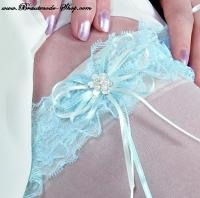 Strumpfband blau