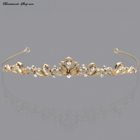 Brautdiadem gold+silber