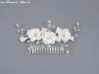 Braut-Haarkamm Blütenzauber