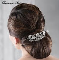 Haarspange versilbert Brautfrisur