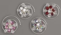 6 Curlies mit Swarovski-Kristallen