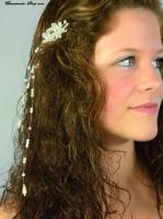 Haarclip Blüte