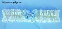 Strumpfband mit Kristallherz