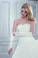 Brauthandschuhe mit Spitze