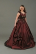 Brautkleid Rosen   bordeaux