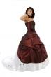 zweiteiliges Hochzeitskleid   bordeaux