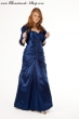 Exclusives Abendkleid royalblau  Groesse  40