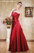 Gewickeltes Kleid rot  Groesse  34