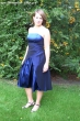 Empire Cocktailkleid in Royalblau Größe: 46