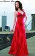 Schlichtes Abendkleid in rot  Groesse  34