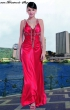 Sehr edles Abendkleid in rot  Groesse  42