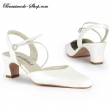 Brautschuh Bettina  Satin   ivory  42