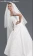 langer Brautschleier 170 cm lang