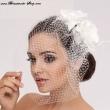 Braut Haargesteck mit Kurzschleier
