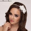 Haarreifen mit Blüten / Brautdiadem