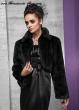 Bolero Jacke für die Braut Fellimitat Farbe, Größe: schwarz, L