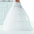 Reifrock Brautkleid mit 280 cm 3 Reifen  Größe: Größe M