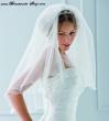 Brautschleier mit Perlen und Kristallen