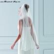 Brautschleier 200cm x 110cm  Farbe  ivory