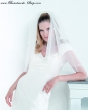 Brautschleier mit Satinschleifen   Farbe  weiss