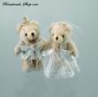Teddybaeren Braut und Braeutigam