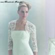 Bolero Jacke Braut aus Spitze ivory  Groesse  40