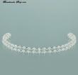 Tiara Haarreifen mit Perlen