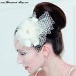 Haarschmuck mit Netz  Farbe  ivory