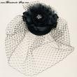 Haarschmuck mit Netz  Farbe  schwarz