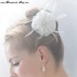 Braut - Haarschmuck mit Federn