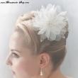 Haarbluete fuer die Braut ivory