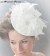 Fascinator   Brauthut Farbe  ivory