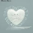 Mini Ringkissen Herzform  Farbe  weiss