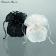 Brautbeutel Organza  Farbe   schwarz