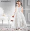 Blumenkinderkleid ivory  Alter  6 7 Jahre