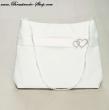 Tasche mit Strassherzen Farbe: weiß