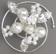 Curlie mit Perlen und edlen Kristallen